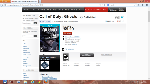 ghosts gamestop pre order bonus